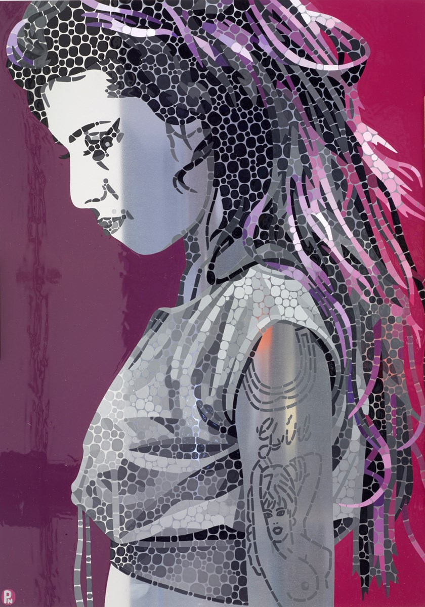 Amy Winehouse Someone to watch Over Me Study by paul normansell - High Gloss Enamel Paint on Aluminium sized 20x28 inches. Available from Whitewall Galleries